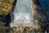 Mahala Lee Forsythe - grave marker