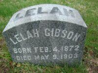 Lelah Gibson - Grave Marker
