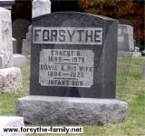 Ernest Forsythe Grave Marker - Forsythe Cemetery