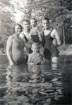 Marie 'Schultz' Uhl, Edward Uhl, George & Antone. (Eddie holding the ball)