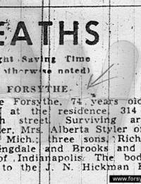 Death Announcement: Terre Haute Tribute 8/25/1956