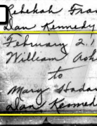 William Ashmore & Mary Hadan Marriage Registry Entry - 1791