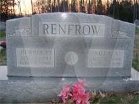 Sallie Ann Hines Renfrow - grave marker