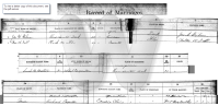 Marriage Registry for Richard Carpenter and Lelah Gibson