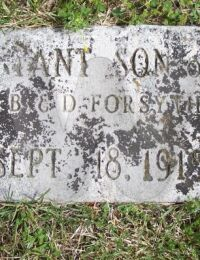 Infant son of E.B. and D.A. Forsythe - grave marker