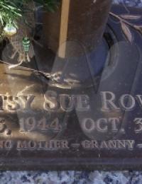 Patsy Sue Rowan - grave marker