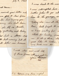 Letter from Ed to Maria - 1929