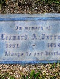 Leonard Jarrell - (grave marker)