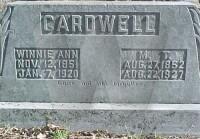 Winnie & Martin Cardwell - grave marker
