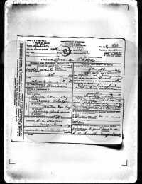 John W. Phelps - death certificate
