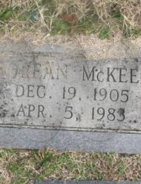 Orean McKee - Grave Marker