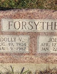 Joe & Dolly Forsythe - Grave Marker