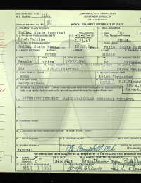 Helen Mary Gibson - Death Certificate