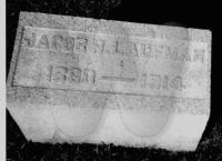 Jacob Laufman - Grave Marker