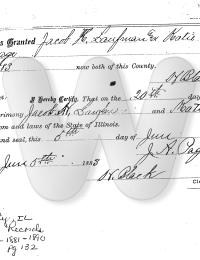 Jacob & Sarah Marriage License
