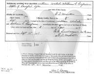 Sarah & William Walsh Marriage Certificate
