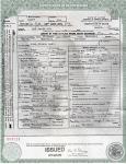 John Wilson Lewis death certificate