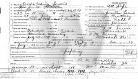 Joseph Lewis Death Certificate