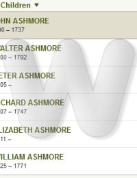 John & Mary Chapman Ashmore Family