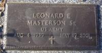 Leonard Eugene Masterson Sr. - Grave Marker
