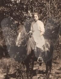 Gladys Juhree Forsythe -horse riding