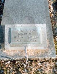 John W. Lewis, Jr. - grave marker