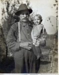 G.W. Cline with young boy