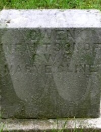 Owen Cline - grave marker