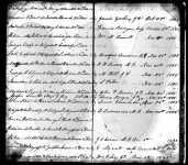 George Cline & Elizabeth Warren Marriage Register - 1848