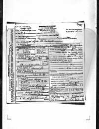 Lora McFarland Death Certificate