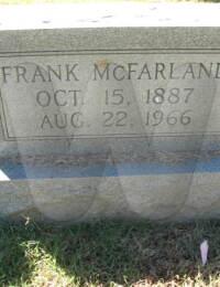 Frank McFarland - grave marker