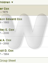 Walter & Iva Cox - family