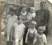 Virginia, Versa Rose, (holding Russell), Harvey, Archie, Jack, Harvey, Jr.