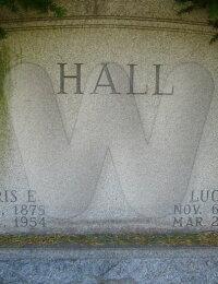 Harris & Lucy Forsythe Hall - grave marker