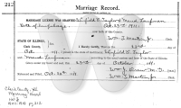 Winfield Taylor & Maud Laufman - marriage record