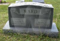 Kenneth H. & Mary Forsythe Ward - grave marker