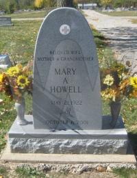 Mary Camponovo Forsythe Howell - grave marker