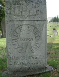 Samuel E. Carpenter - grave marker