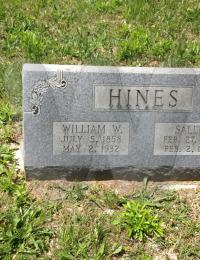William & Sallie Hines - grave marker