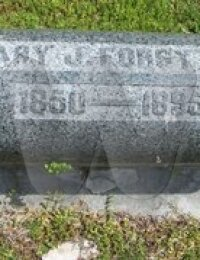 Mary Jane Rhodes Forsythe - grave marker