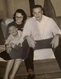 Josie with husband Richard Lee Johnson and son Richard Jr.