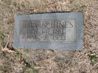 Marvin Hines - grave marker