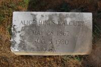 Alice Hines Walcutt - grave marker