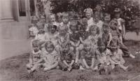 Richard Forsythe - 1937 - Warren Nursery School. (2nd from right in middle row)