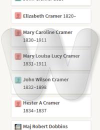 George Cramer Family with Mary Elizabeth