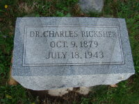Dr. Charles Ricksher - grave marker