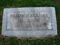William H. Ricksher - grave marker