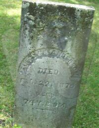 Eleanor Orr Stockton Anderson - grave marker