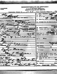 Andrew J. Hines - death certificate