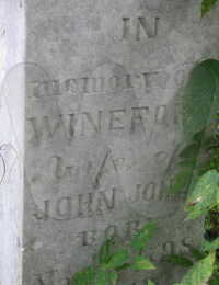 Wineford T. Cox Jones - grave marker